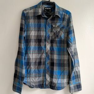 Zoo York plaid shirt size S